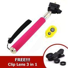 ราคา Monopod Selfie Handheld Z07 1 Pink Ab Bluetooth Shutter Yellow ฟรี Clip Lens 3 In 1 Black ใหม่ล่าสุด