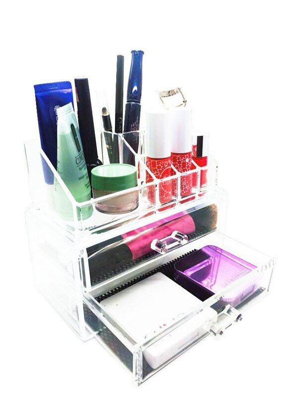HP Gift Shop Acrylic Cosmetic Organizer SF-1063 - Clear White