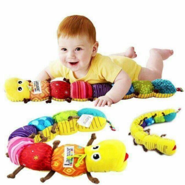 หมอนข้างเด็ก ลายหนอน ตุ๊กตาหนอน ยาว 60 ซม เสริมพัฒนาการ