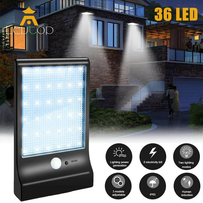 LEVTOP 36 LED Solar lights Outdoor Lighting Wall Power Street Light Motion Sensor Detector Light Security Lamp Garden 450LM