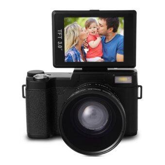 กล้องดิจิตอล 24MP Flip Screen Digital Camera FHD 1080P Video 3.0\ TFT LCD พร้อม UV Filter + Wide Angle Lens