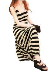 ซื้อ Fashionstory Maxi Dress เดรสยาวลายริ้ว Black Cream ใหม่