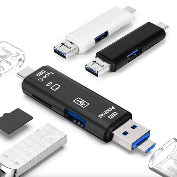 Bảng giá EEmax Store 【Hàng Có Sẵn】đầu Đọc Thẻ Mini USB 2.0 Loại C Đầu Đọc Thẻ Nhớ Micro USB TF OTG Đa Năng Đầu Đọc Thẻ Thương Mại Di Động Đầu Đọc Thẻ Ngắn Gọn Màu Trơn Màu Đen Và Trắng Có Bảo Vệ Giao Diện Phong Vũ