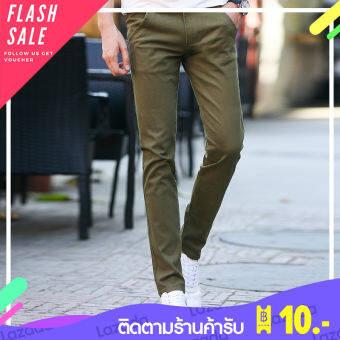 Hifashion ใหม่กางเกงผู้ชายบางกางเกงลำลองผู้ชายกางเกงหลวมตรงชายเกาหลีฤดูร้อนกางเกงสลิมป่า