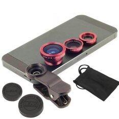 LIEQI 3in1 Lens Universal LQ-001 (Red)