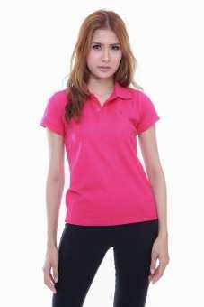 เสื้อโปโล ( polo shirt )แบรนด์ Geeko ตรากวาง สีพื้นหญิง สีชมพู( พีกาซัส ) gkc - 22W-