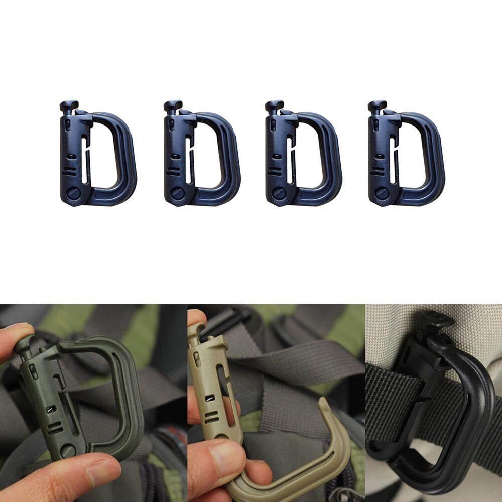 Tactical Gear Clip Strap for Molle Backpack Webbing D-Ring Grimlock Holders Kit