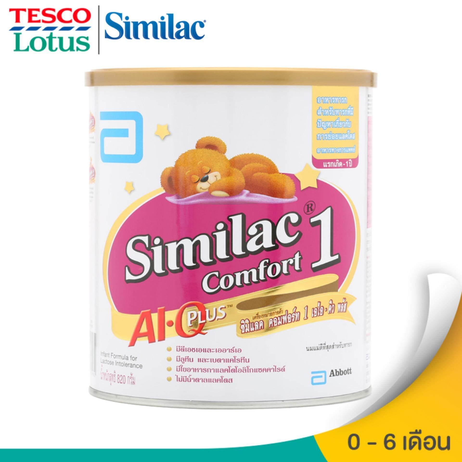 ต้องการซื้อ SIMILAC ซิมิแลค นมผงสำหรับเด็ก ช่วงวัยที่ 1 คอมฟอร์ท เอไอ คิว พลัส 820 กรัม ราคา ของแท้