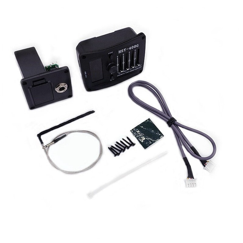 HSY-400G EQ Acoustic/Classic Guitar Preamp LCD Guitar Piezo Pickup