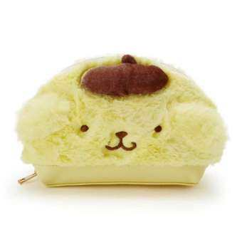 กระเป๋าใส่เครื่องสำอางค์ Sanrio แบบใหม่ ด้านนอกเป็นผ้าขน+หนัง PU ขนาด 16*5*12 cm-