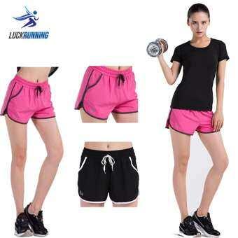 กางเกงวิ่งขาสั้นผู้หญิง มีซับใน 2-in-1 Vansydical-