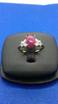 แหวนทับทิมแท้ / เงินแท้925 /เคลือบทองคำขาว-