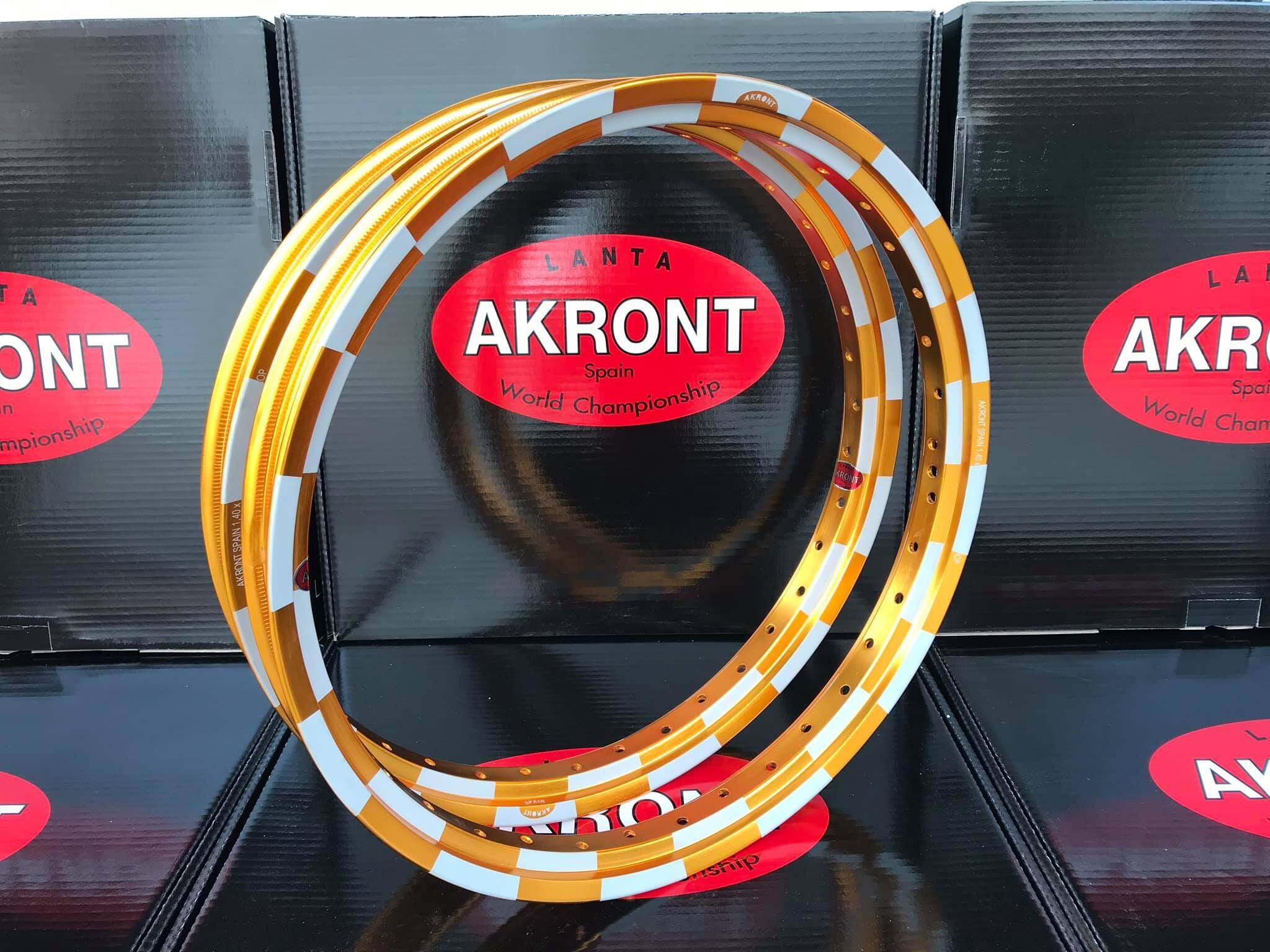 โปรโมชั่น วงล้อ ขอบ17 x1.40 ล้อ อาก้อน AKRONT หมากรุก 1.40-17 ทอง ทองเข้ม ทองอาก้อน น้ำเงิน ล้อแข็ง ของแต่งเวฟ ดรีม โซนิค l PTM Racing