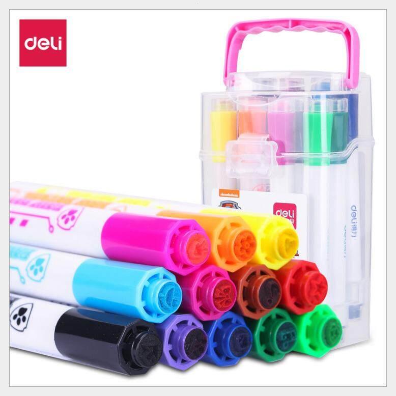 ปากกาเมจิก 12 สี12 ด้าม บรรจุกล่องพลาสติกอย่างดี เป็นปากกาสีเมจิกหัวแหลมขนาด 4.0 มม. น้ำหมึกชนิดน้ำ  ให้สีสันสดใส ใช้ได้หมดจนหยดสุดท้าย ไร้สารพิษ และปราศจากวัตถุกันเสีย เด็กใช้งานได้ สามารถนำไปใช้ในงานศิลปะหรือวาดรูป สินค้าพร้อมส่ง เก็บเงินปลายทาง.