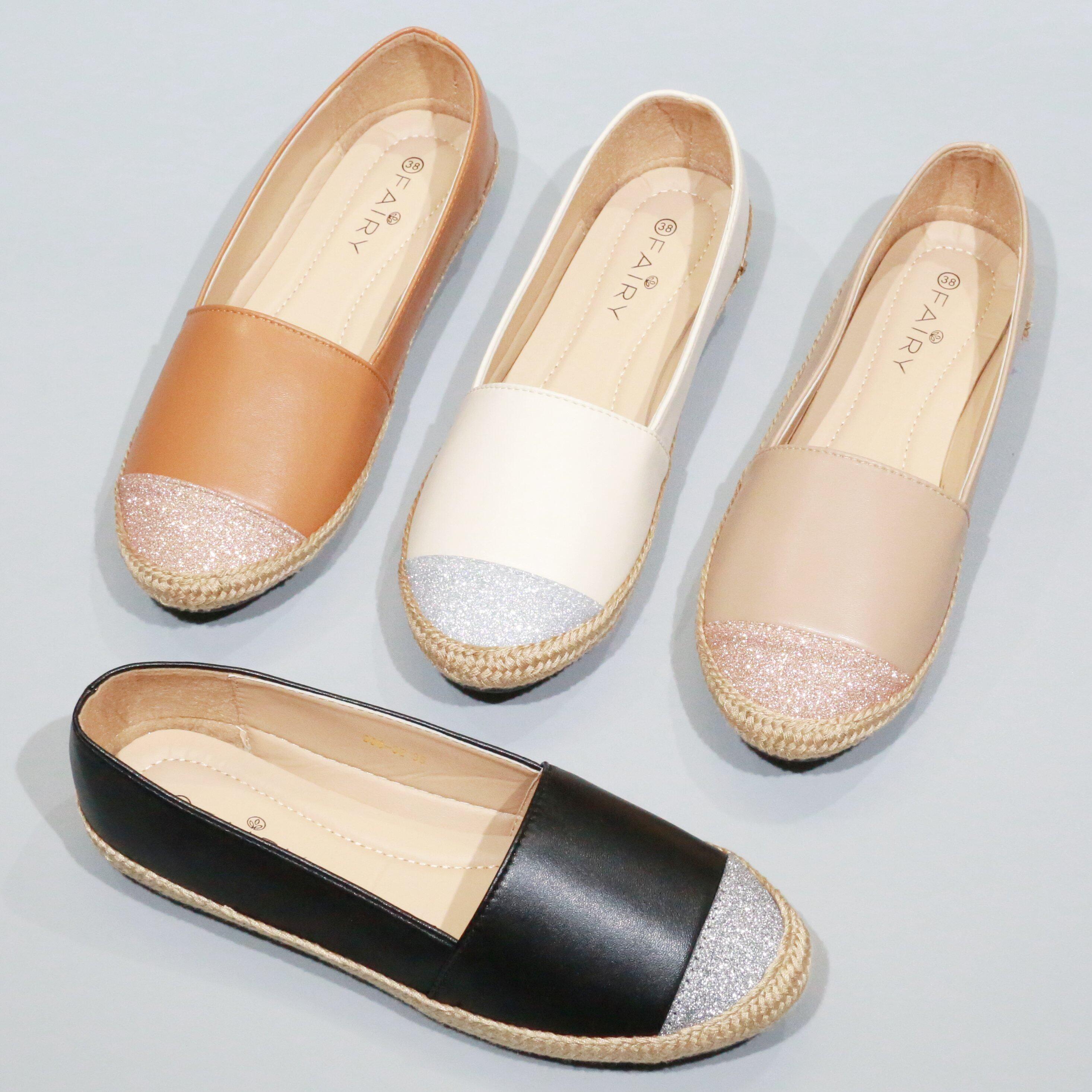 รองเท้าส้นแบน 999-32 รองเท้าหุ้มส้น พื้นนุ่มใส่สบาย.