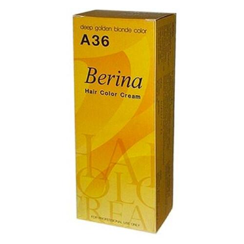 Berina - A36 สีย้อมผมเบอริน่า สีบลอนด์เข้มประกายทอง W.200 รหัส.h236.