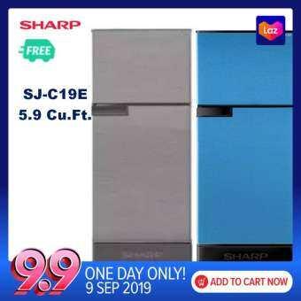 ส่งฟรี Sharp ตู้เย็น 2 ประตูความจุ 5.9 คิว SJ-C19E-WMS รับประกัน 10ปี ฉลากเบอร์5-