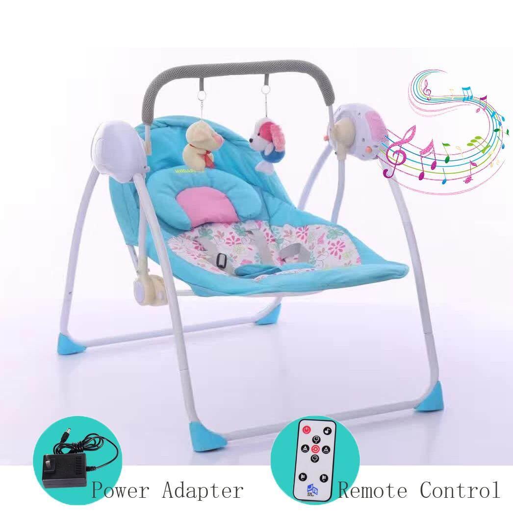 ราคา Electric baby cradle ทารก เปลไกวไฟฟ้า เปลไกวอัตโนมัติ รุ่น HS 01 (สีชมพู/สีฟ้า)