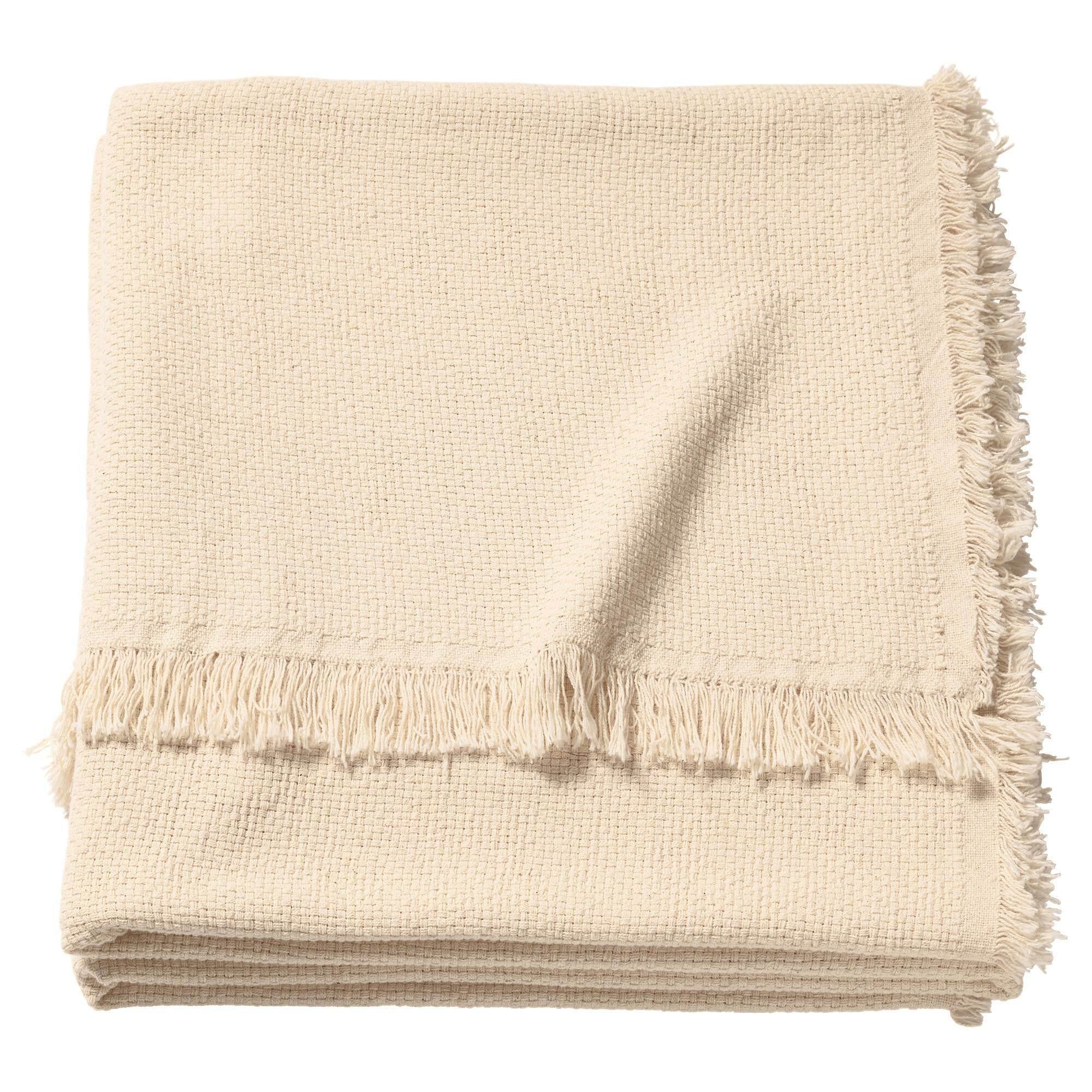 ถูกสุดสุด Oddrun ออด์รัน ผ้าคลุม สีเนเชอรัล/เบจ ผ้าฝ้ายเป็นวัสดุธรรมชาติที่ให้สัมผัสนุ่ม ดูแลรักษาง่าย By Vvs.