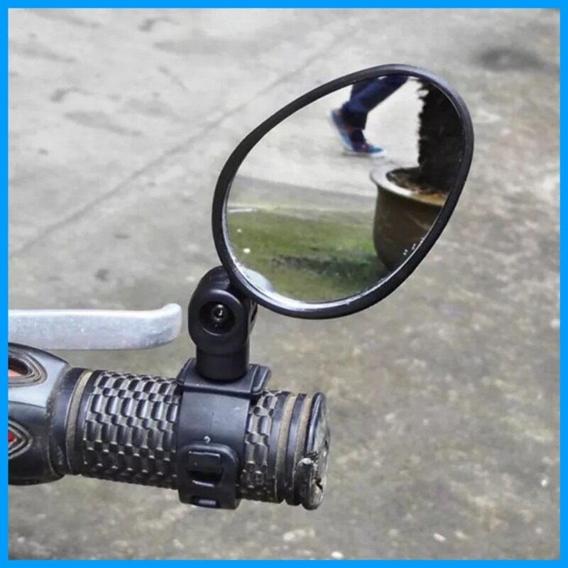 Qiaoyue กระจกมองข้างจักรยาน ราคาถูก ใช้ดี Bicycle Mirror กระจกติดเสริมจักรยาน ไว้มองหลัง เพื่อความปลอดภัย ติดง่าย ทรงรีแบบสายรัด ขนาด7cm (2ชิ้น).