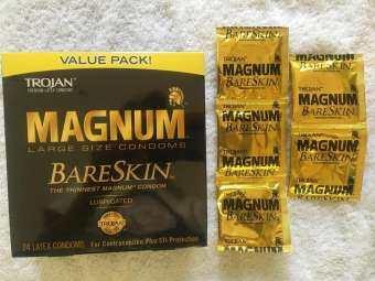 MAGNUM™ Bareskin™ Lubricated LARGE size condoms – TROJAN™ The Gold Standard™ in comfort and protection 5,10 or 24 Pieces ไซด์ใหญ่และบาง! ถุงยางอนามัยยี่ห้อดังและเก่าแก่ในสหรัฐฯ โตรจัน  #คอนดอมขนาดใหญ่พิเศษ 54mm Condom