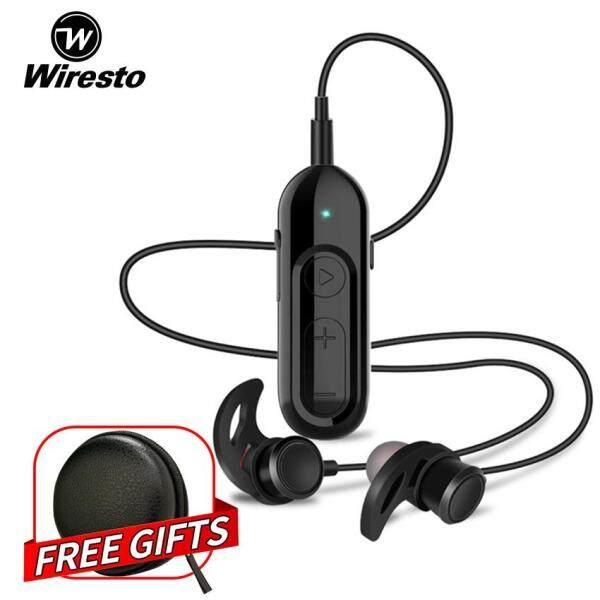 Wiresto Wireless Earbuds Bluetooth Headphones In Ear Earphone Magnetic Sport Headphone HiFi Bass Stereo Earpiece Car Bluetooth Earphones with Bluetooth Receiver Free Case Box Singapore