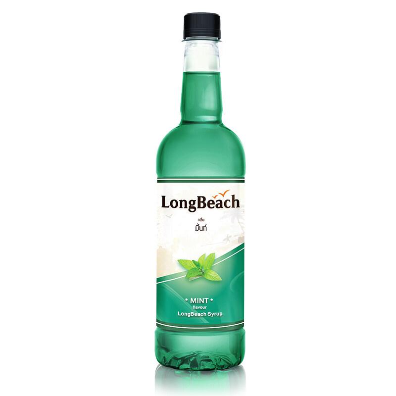 ลองบีชไซรัปมิ้นท์ ขนาด 740 มล.  Longbeach Mint Syrup Size 740 Ml..