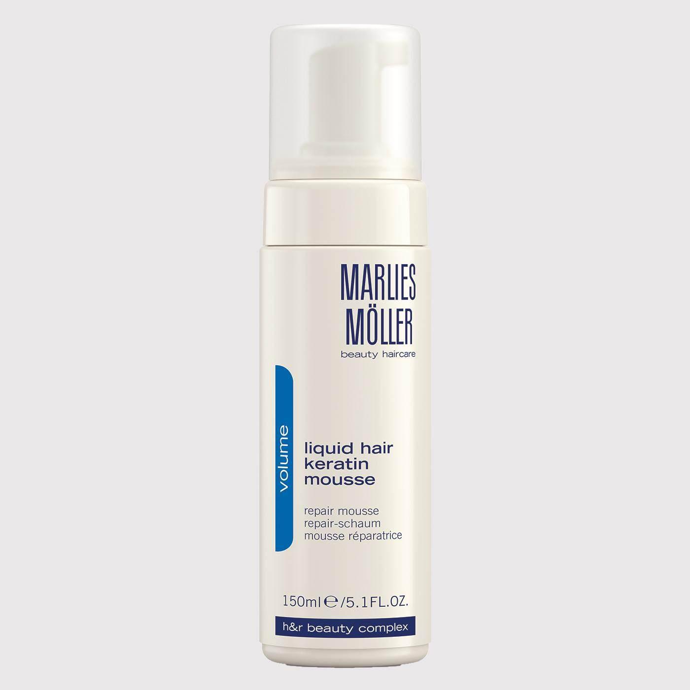 มาร์ลี่ มอลเล่อร์ ลิควิด แฮร์ เคราติน มูส 150 มล (มูสจัดแต่งทรงผมที่มีมาสคาร่า Effect ช่วยเพิ่มวอลลุ่มให้แก่ผม) Marlies Moller Liquid Hair Keratin Mousse 150 Ml By Marlies Moller Thailand Official.