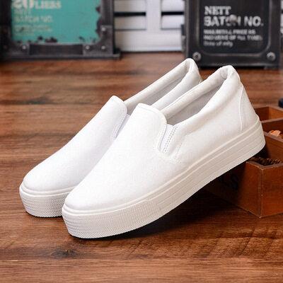 ❄️พร้อมส่ง❄️รองเท้าสลิปออน รองเท้าผู้หญิง รองเท้าผ้าใบ สไตล์เกาหลี แฟชั่นใหม่ ใส่ได้ทุกโอกาส [มีบริการเก็บเงินปลายทาง]women Shoes(39 บาทสำหรับเชือกผูก)รองเท้าผ้าใบผช.