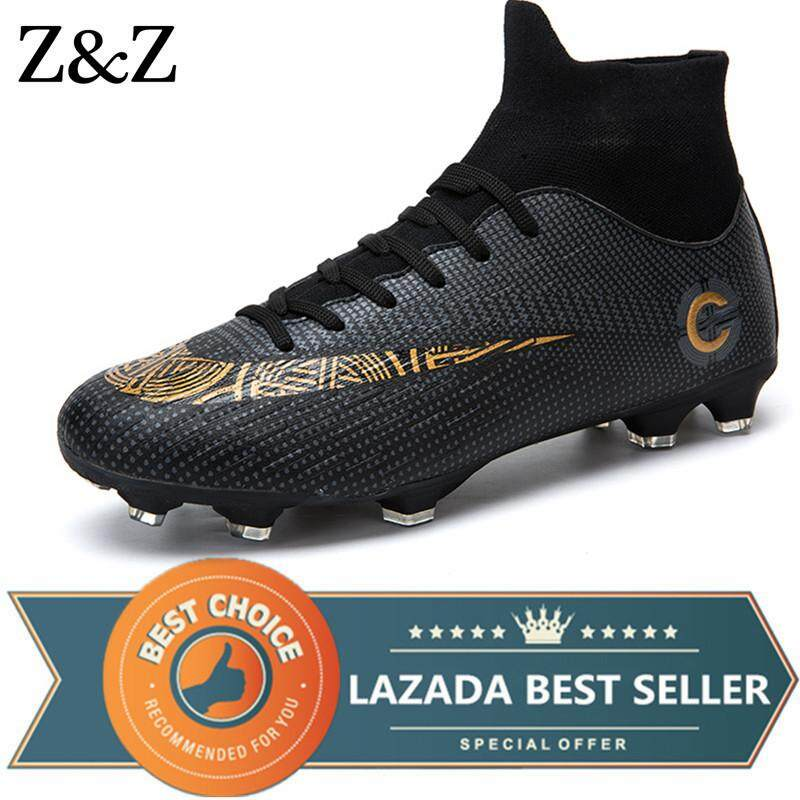582dd5101a3f Z&Z Men Football Shoes Boys Soccer Shoes Outdoor Lovers Training Sports  Sneakers