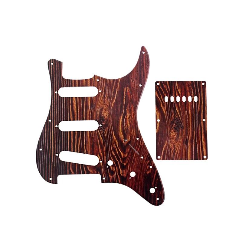 Red Tortoise Shell Guitar Pickguard SSS Strat Style