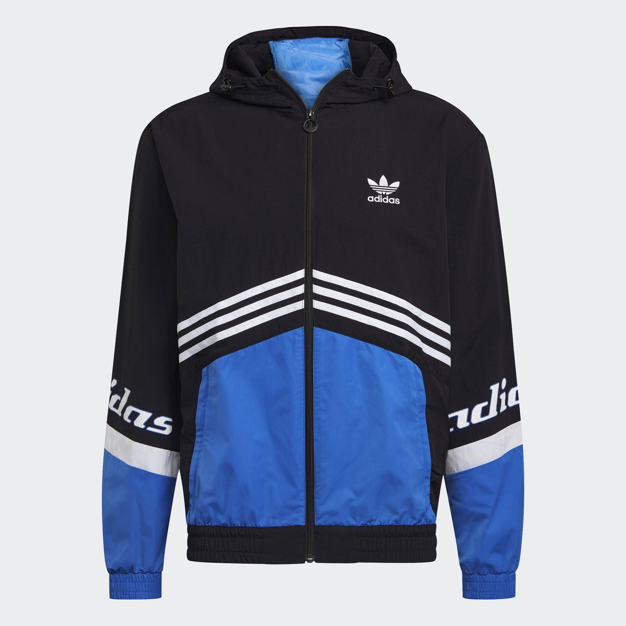 Adidas Originals Trefoil Graphic Pack Windbreaker ผู้ชาย สีดำ Ha4741.