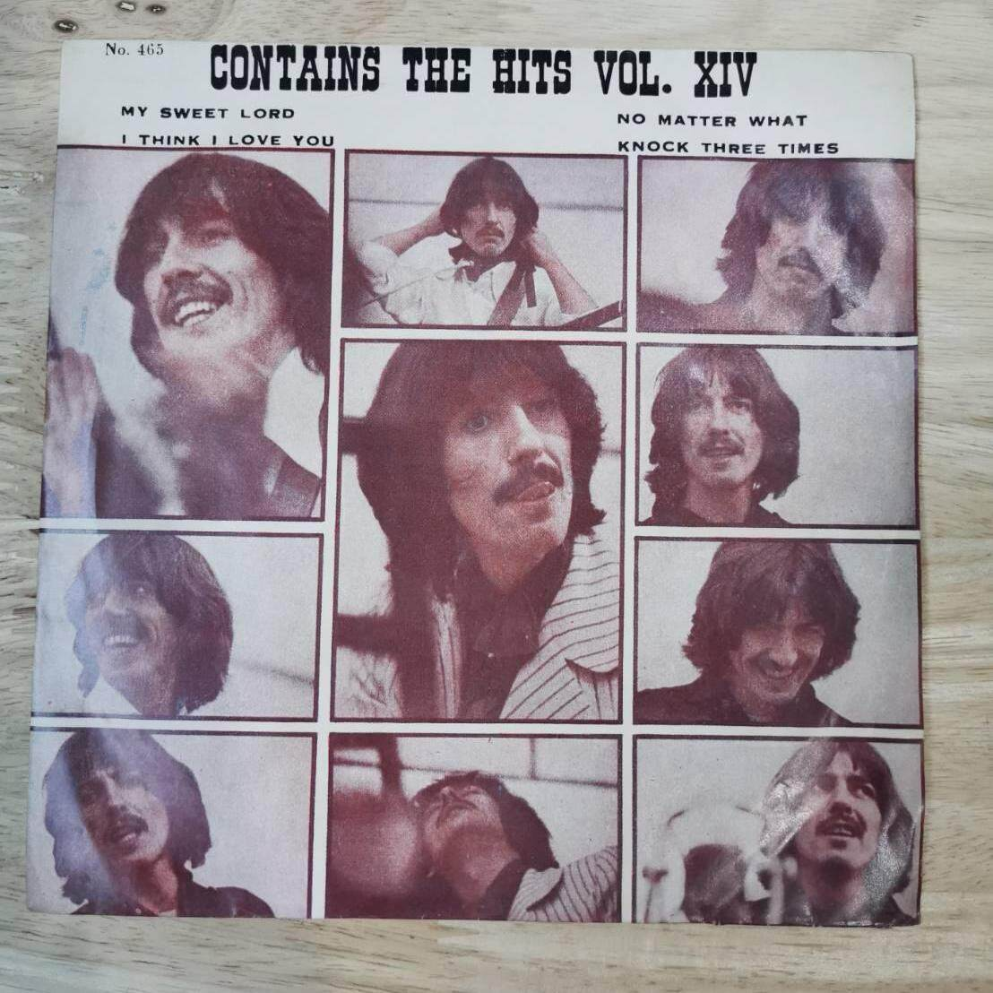 แผ่นเสียง รวมศิลปิน Contains The Hits Vol. Xiv ขนาด7นิ้ว 45rpm ปกvg+ /แผ่น Vg++ By Oldism111.