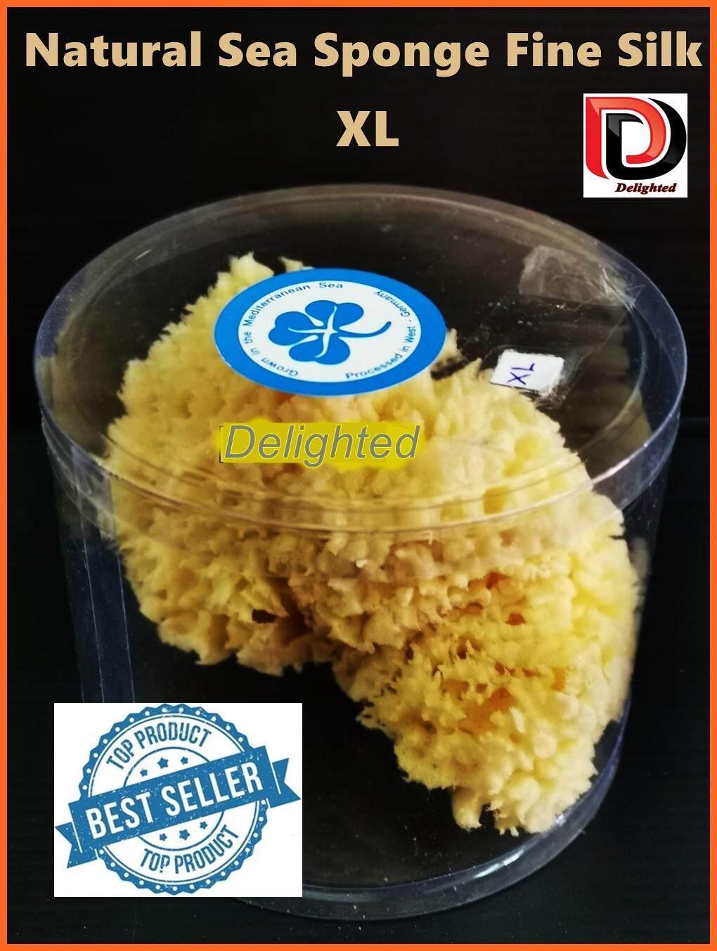 โปรโมชั่น Delighted ฟองน้ำธรรมชาติแท้ 100% Natural Sea Sponge Fine Silk สำหรับการล้างหน้าและอาบน้ำ ขนาดใหญ่ ซึมซับได้ดีเยี่ยม และอ่อนโยนต่อผิวทารก ขนาด L และ XL