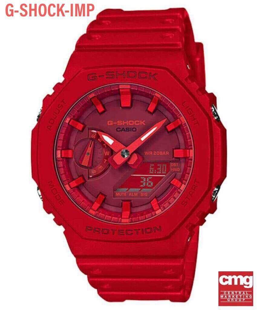 Casio G-Shock รุ่น Ga-2100-4adr สีแดง สินค้าใหม่ ของแท้ รับประกันศูนย์ Cmg1 ปี  รุ่นใหม่ล่าสุด.