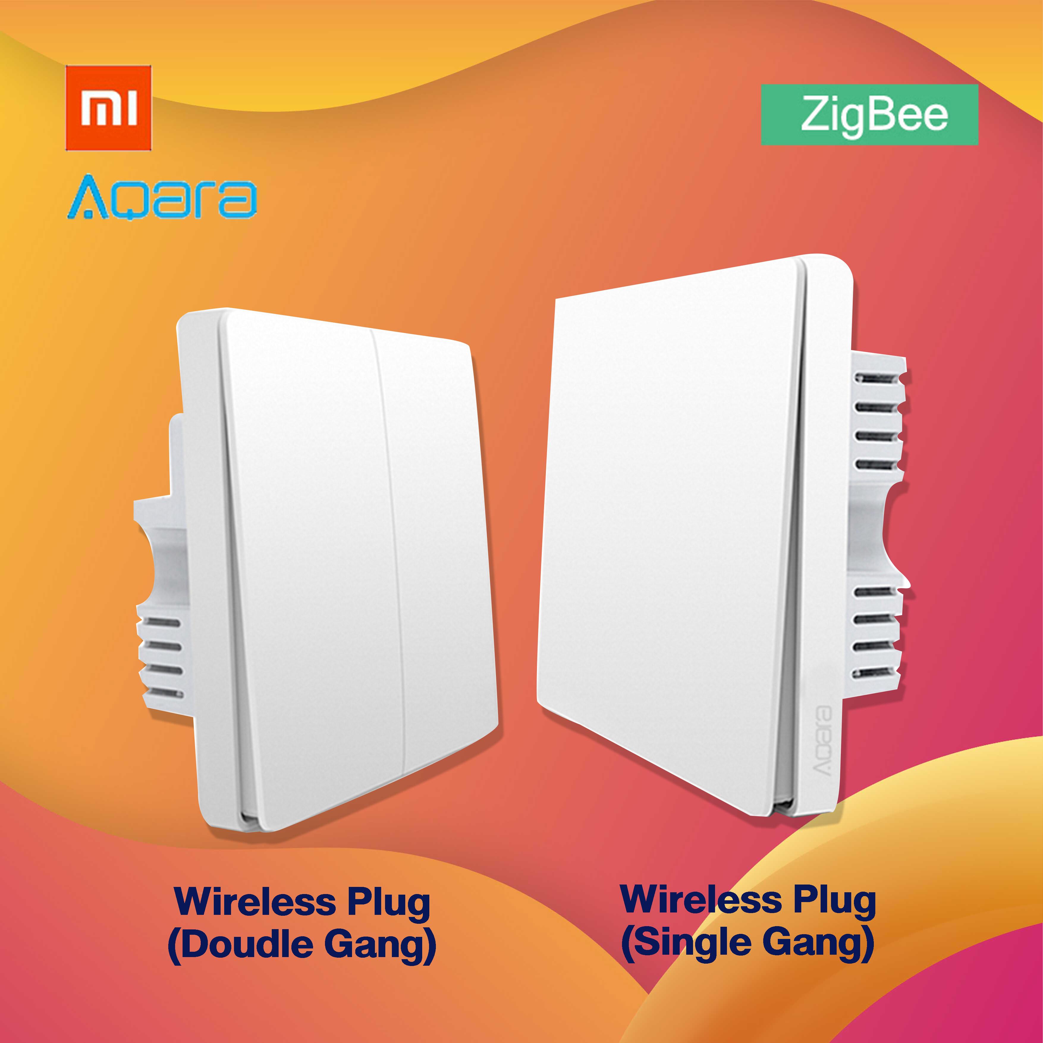 AQARA Wall Switch ZigBee Neutral Line แบบมีสาย N และไม่มีสาย N สวิตช์ไฟอัจฉริยะแบบต่อสาย เชื่อมต่อผ่าน APP Switch ปุ่มควบคุม สำหรับการควบคุมอัจฉริยะ