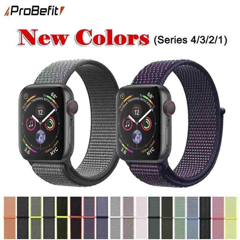 Band For Apple Watch Series 3/2/1 38mm 42mm Nylon Soft Breathable Replacement Strap Sport Loop For Iwatch Series 4 40mm 44mm By Blue Life.