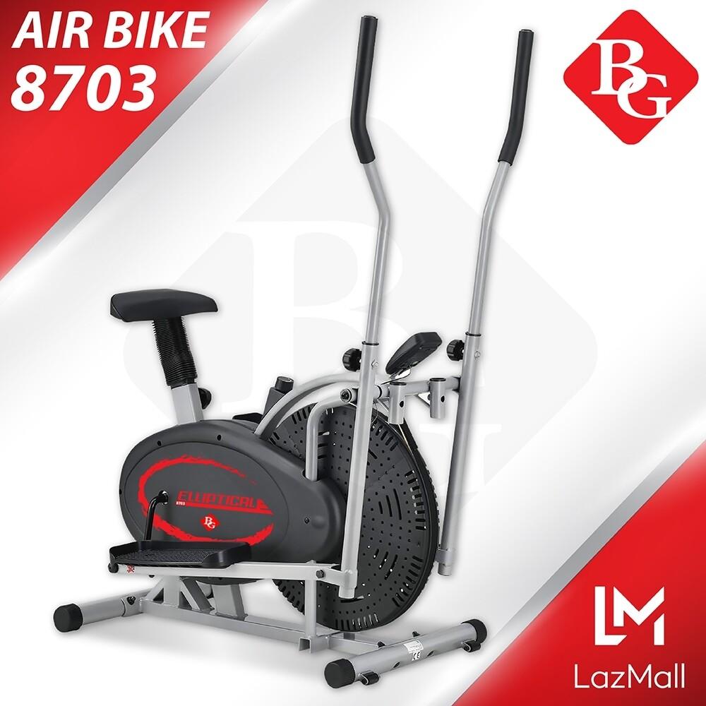 B&g Fitness รุ่น Bg 8703 จักรยานนั่งปั่นออกกำลังกาย เครื่องเดินวงรี Elliptical จักรยานบริหาร Air Bike.