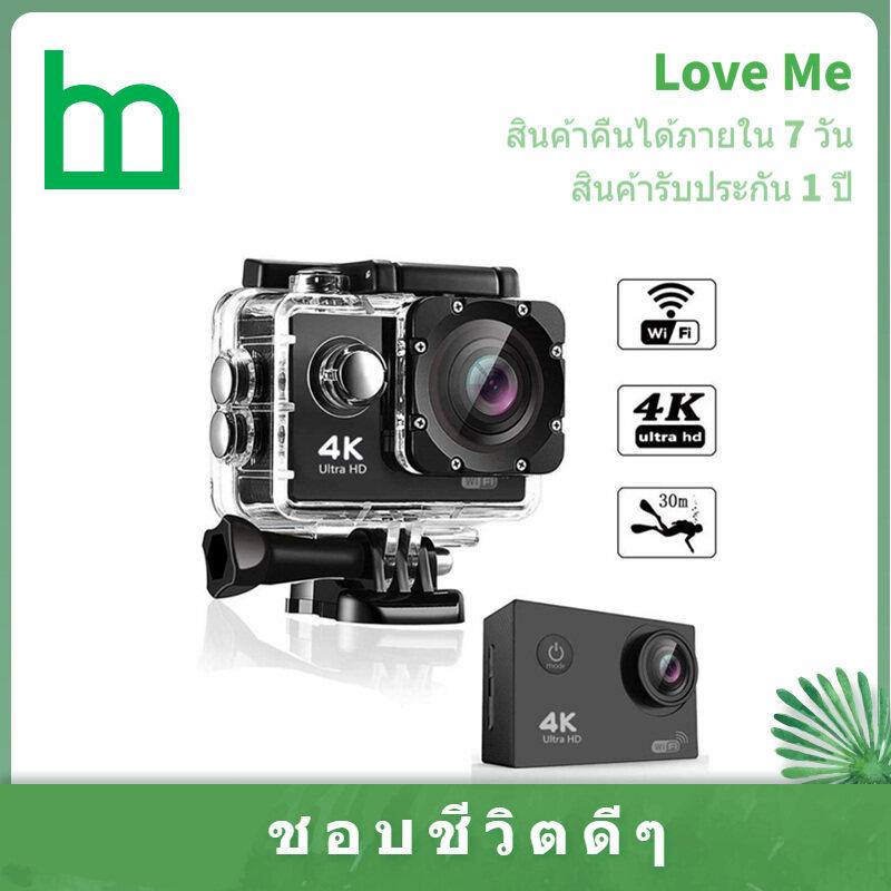 กล้องกันน้ำ กล้องกันน้ำมอไซน์ 4k Sport Camera Wifi Action Camera เชื่อมต่อ Wifi กันน้ำได้ลึกถึง 30 เมตร กล้องโกโปร กล้องติดหมวก กล้องบันทึกภาพ กล้องติดหมวกกันน็อค กล้องติดหน้ารถ กล้องข.