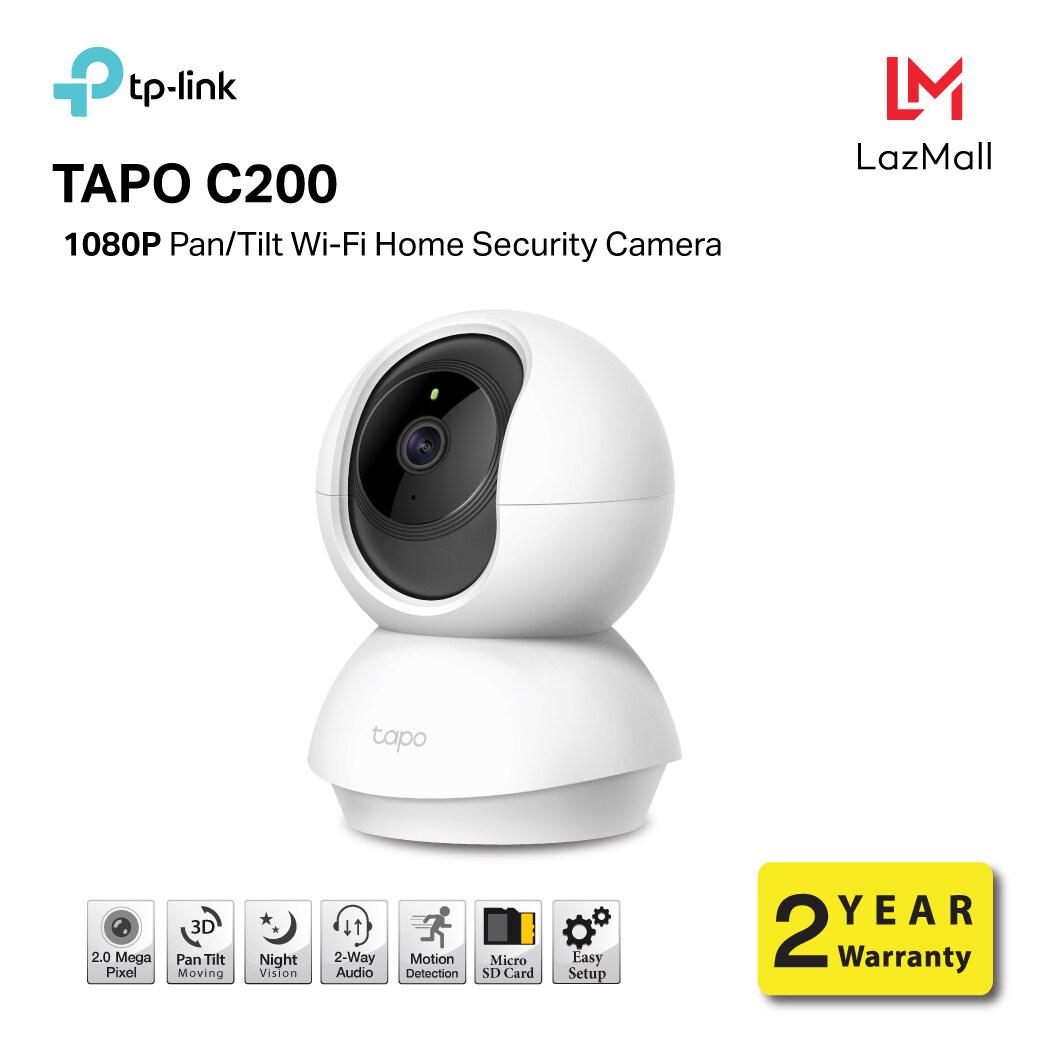 กล้องวงจรปิด Security / Ip Camera Tp-Link Tapo C200 Pan/tilt Home Security Wi-Fi Ip Camera 1080p Full Hd กล้องคมชัด 2ล้านพิกเซล(2mp) รับประกันศูนย์ 2ปี / ใส่เมมได้สูงสุด 128 Gb/ หมุนได้รอบ360°/ หมุนขึ้นลง114°/ 2way Microphone Speaker /รับประกันศูนย์ 2ปี.