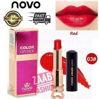 Novo 8สี Lipstick ของแท้ Essence Color โนโว new พร้อมส่ง สไตล์เกาหลี ลิปสติก