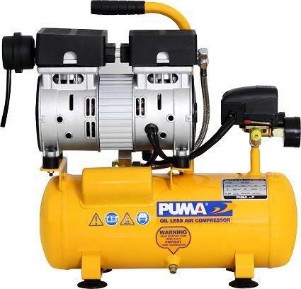 PS-1009 ปั้มลม เงียบ เบา ไร้น้ำมัน รุ่นใหม่ล่าสุด จาก PUMA ขนาด 6 ลิตร 3/4แรงม้า ตัวแทนจำหน่าย