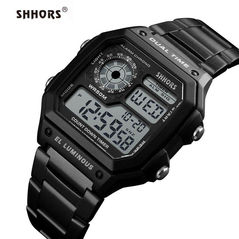 Shhors 0300 นาฬิกาข้อมือดิจิตอล กันน้ำ (ส่งเร็ว ตั้งเวลาไทย ของแท้ 100%) Fashion Sports Watch Skmei 1335 By Lk Wow.