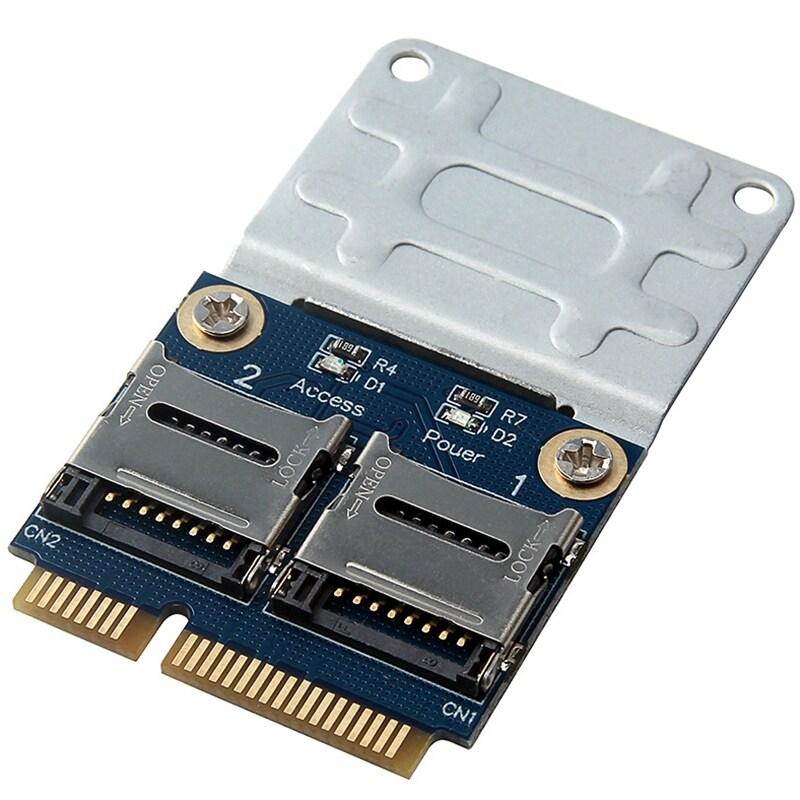 2 Ssd Hdd สำหรับแล็ปท็อป Dual Micro- Sd Sdhc Sdxc Tf Mini Pcie การ์ดความจำ Reader Mpcie 2 Mini-Sdcards อะแดปเตอร์ Mini Pci-E.