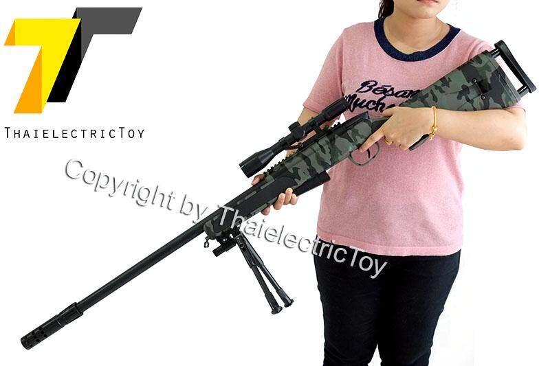 ปืนยิงกระสุนเจล Sniper Rifle สีพราง หนัก 2.5 Kg. ยาว 127 Cm. แถมกระสุน 7-8 Mm 1,000 นัด By Thaielectrictoy.