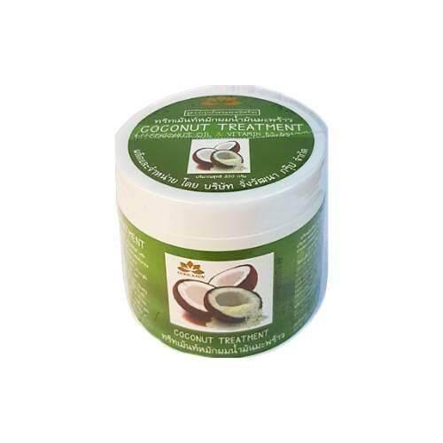 Coconut Treatment Wax ทรีทเม้นท์หมักผมน้ำมันมะพร้าว สูตรเร่งผมยาว 250 G. (1 กระปุก ).