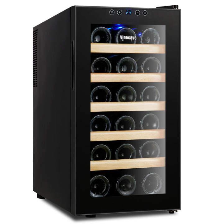 ตู้แช่ไวน์ ตู้เก็บไวน์ ตู้แช่ เก็บขวดไวน์ได้มากถึง 18 ขวด จำนวน 6 ชั้น สำหรับเอาไว้ใช้ภายในบ้าน 48L M.TAWEE