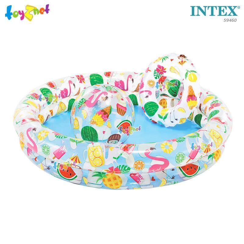 Intex ส่งฟรี สระเป่าลม-บอล-ห่วง ลายผลไม้ รุ่น 59460