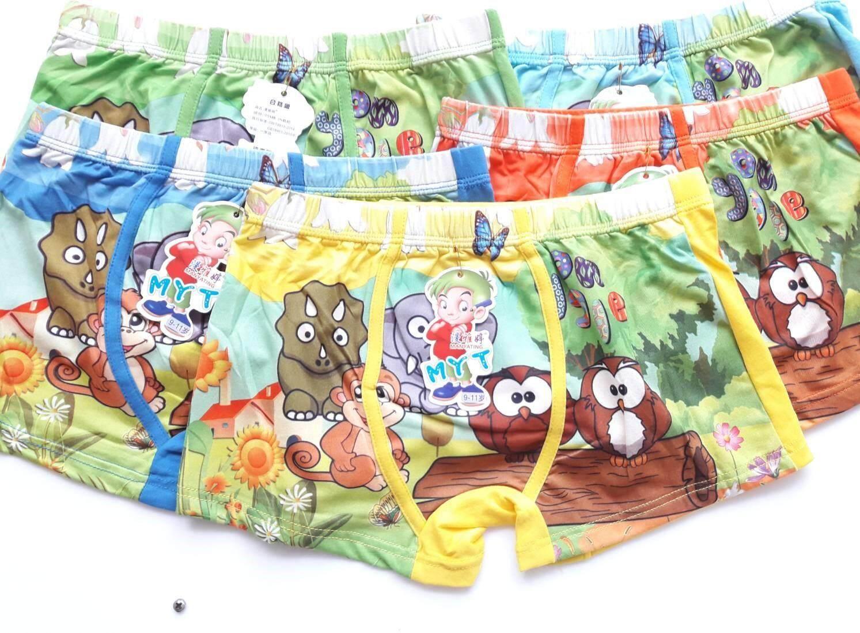 พร้อมส่งจ้า !! กางเกงในขาสั้นเด็กชาย 9 - 11 ปี ลายการ์ตูนน่ารักๆ 1เซ็ตมีทั้งหมด 5 สี 5 ตัว รวมเซ็ตราคา 129 บาท #กางเกงในเด็ก #กางเกงชั้นในชาย