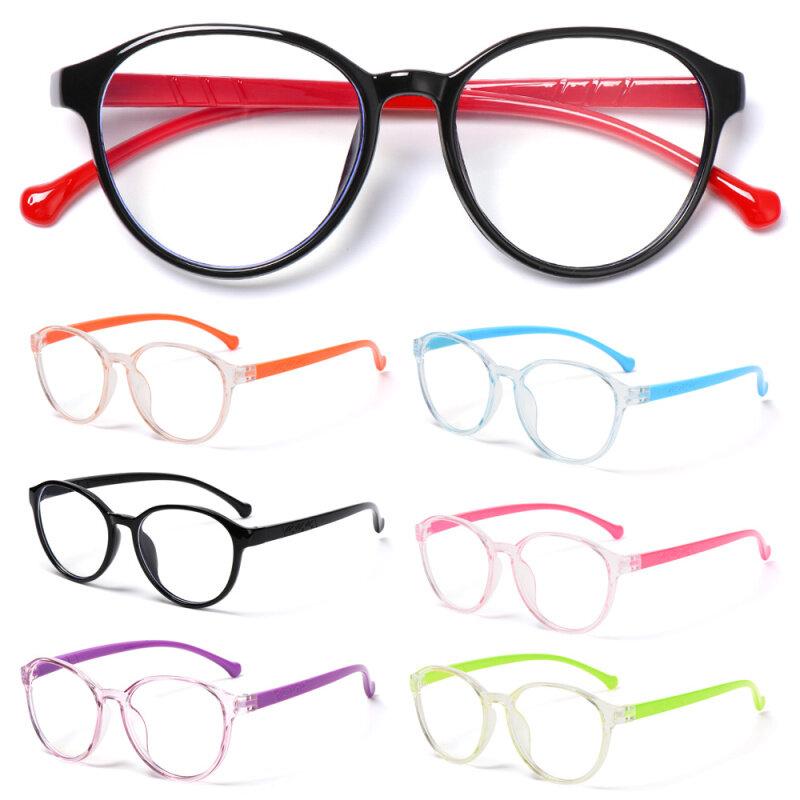 Giá bán Fashion Online Classes Computer Portable Anti-blue Light Kids Glasses Round Eyeglasses Ultra Light Frame